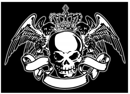 emblem an eagle a scull