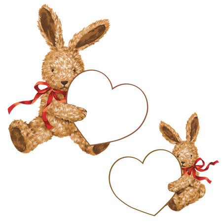 Valentine of rabbit photo
