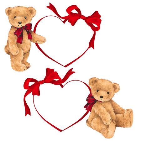 Valentine of bear Stock Photo