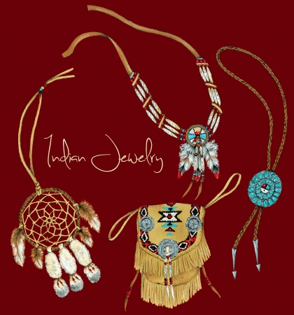 necklet:  Indian jewelry