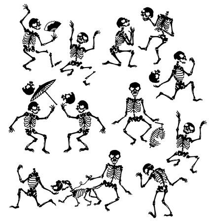 it is interesting: happy skeleton,