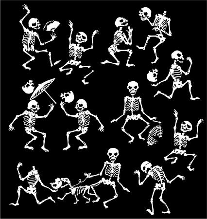 high spirits: happy skeleton,