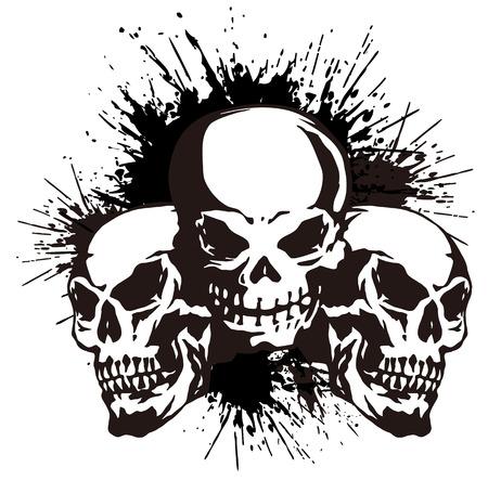 devil's bones:  skull and paint,