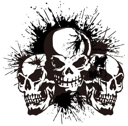rebellious:  skull and paint,