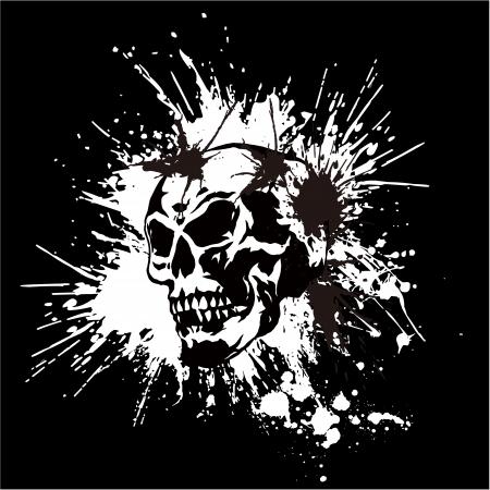 morto: cr�nio e pintura,