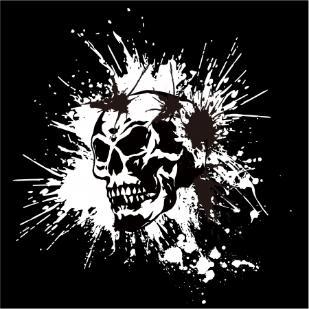 skull and paint, Stock Vector - 25205673