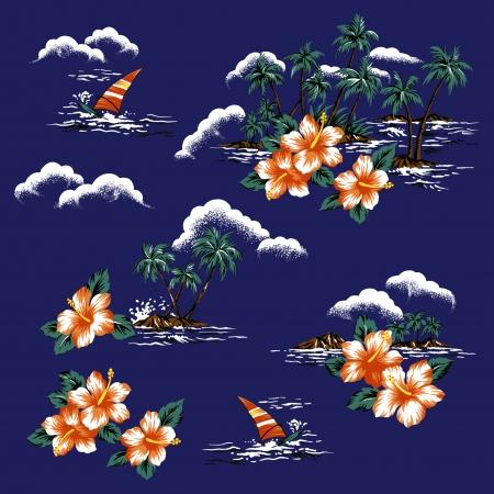 Hawaiian afdrukken,