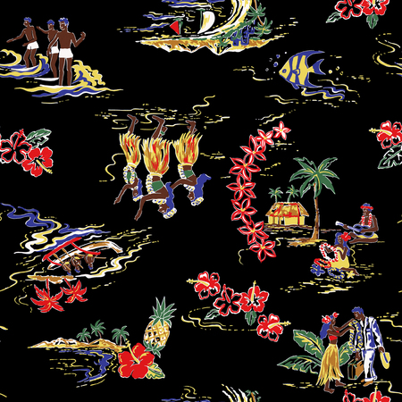 Hawaiian print, Stockfoto