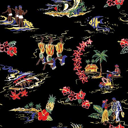 Hawaiian print, Stock Photo