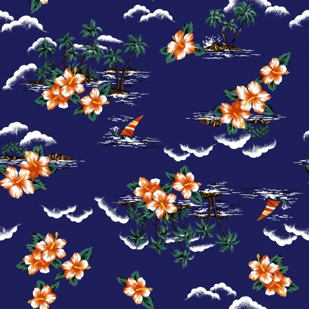 Hawaiian print, photo