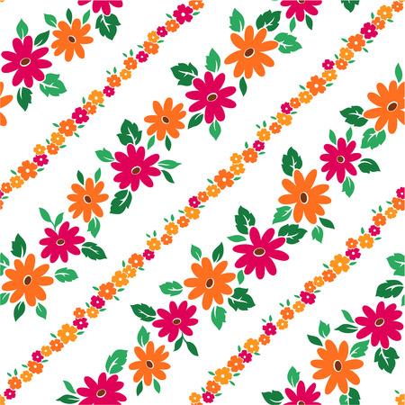 bias: Floral design seamlessly