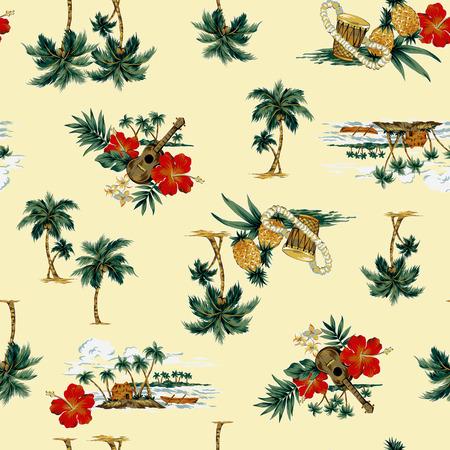 hawaiian print, photo