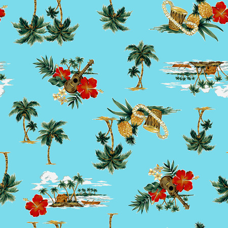 hawaiian print, Stock Photo