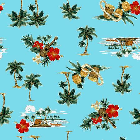hawaiian print, Banque d'images