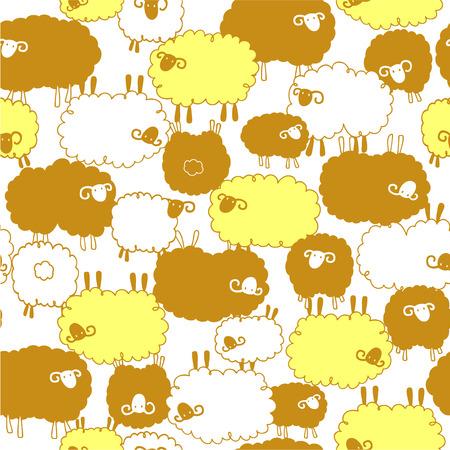dairying: pattern of pretty sheep,