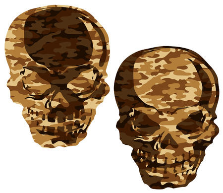 continued: skull and camouflage,