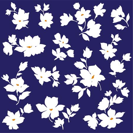 cutwork:  Flower material  Illustration