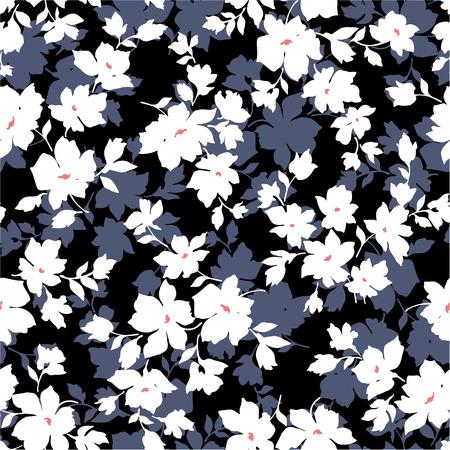 シームレスな花柄のデザイン
