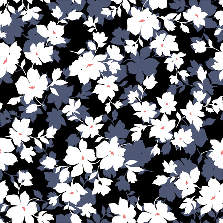 Seamless floral design 版權商用圖片 - 27296204