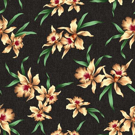 naturally: pattern of Cattleya Stock Photo