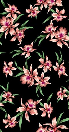cattleya: pattern of Cattleya Stock Photo