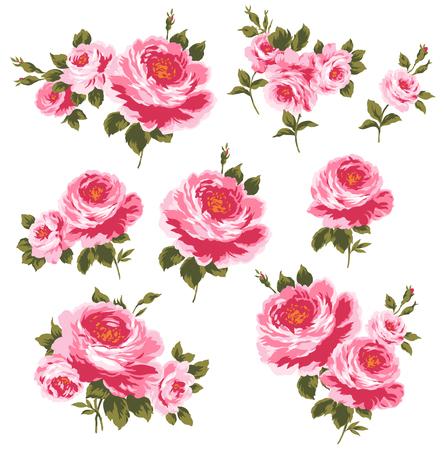 cutwork: illustration of rose Stock Photo