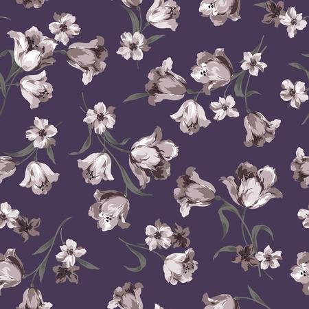 cutwork: Seamless floral design