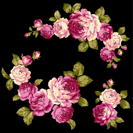 corsage: The illustration of rose