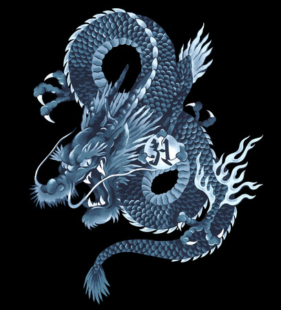 old picture: Japanese dragon