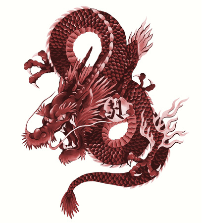 traditional tattoo: Japanese dragon