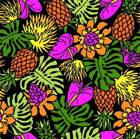 plante tropicale: Le motif de la plante tropicale