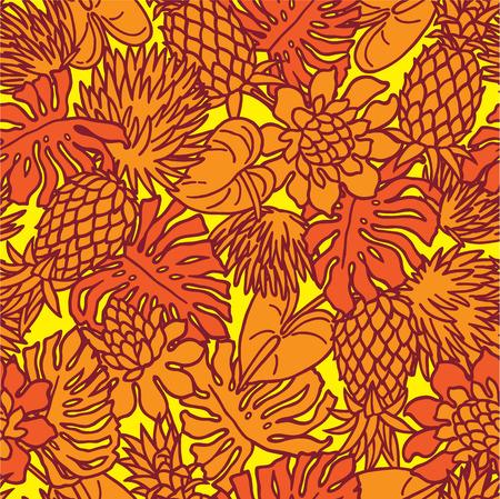 tropical plant: El patr�n de la planta tropical
