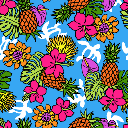 continued: Repetition of Hibiscus pattern