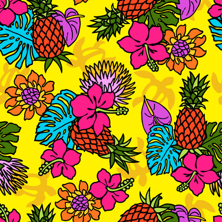 Repetition of Hibiscus pattern