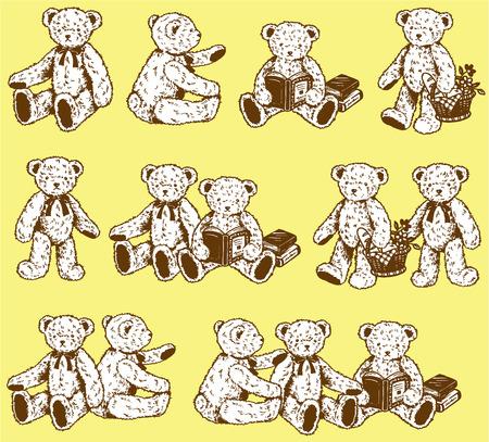 素敵なクマ  イラスト・ベクター素材
