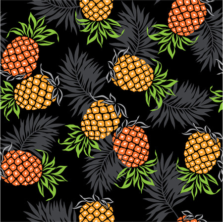 pineapples: pattern of pineapple,