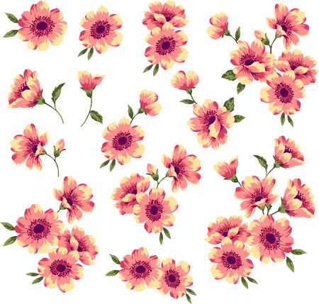cutwork: Flower material