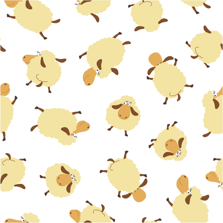 sheep pattern, Vector