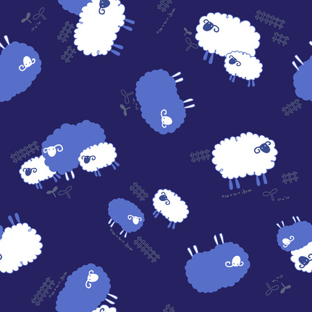 sheep pattern, Illustration