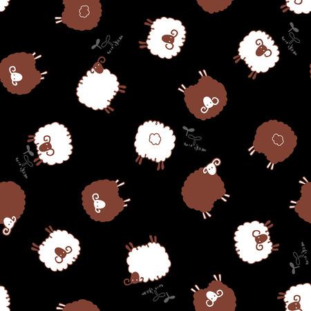 sheep pattern, Illustration