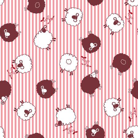 dairying: sheep pattern, Illustration