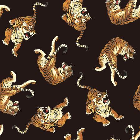 タイガーのパターン  イラスト・ベクター素材