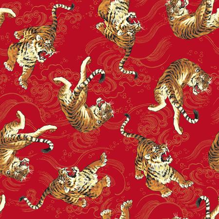 호랑이의 패턴 스톡 콘텐츠 - 32943645