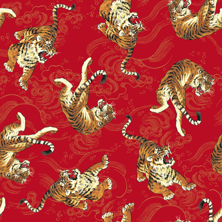 pattern of tiger Vectores