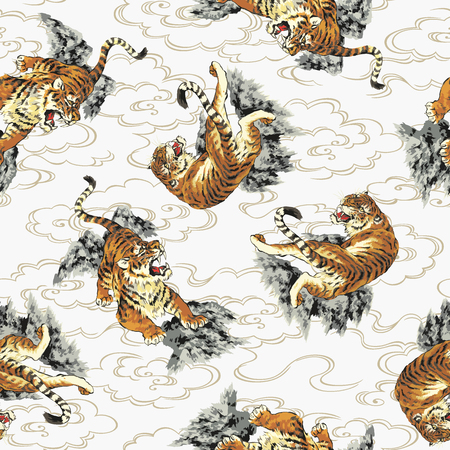 pattern of tiger Stock Illustratie