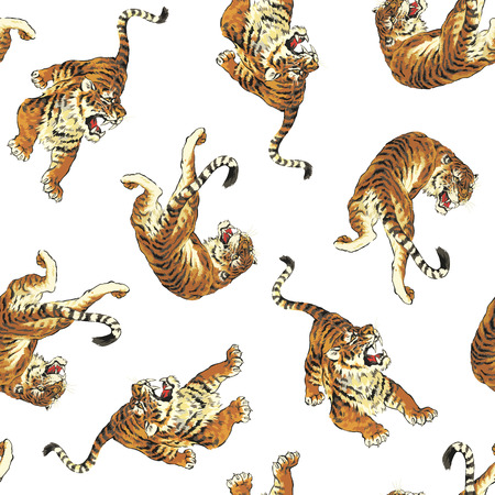 berserk: pattern of tiger Illustration