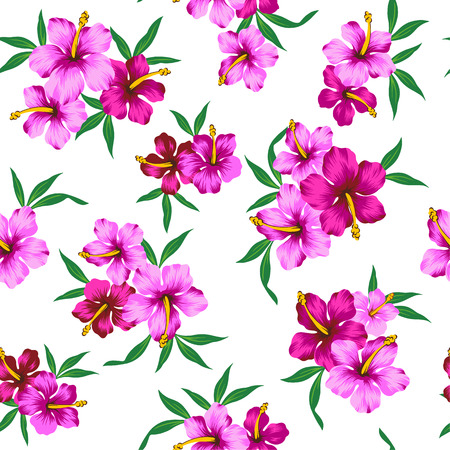 repeated: pattern of Hibiscus