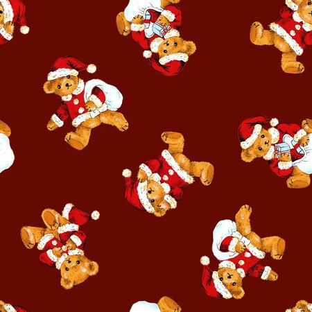 amiability: Santa bear pattern
