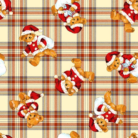 Santa bear pattern photo