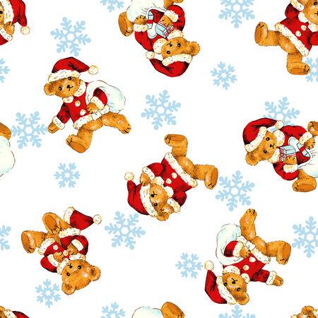Santa bear pattern